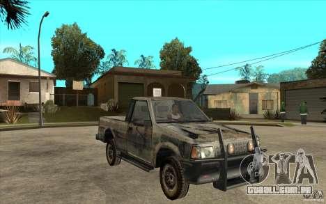 Rusty Mazda Pickup para GTA San Andreas vista traseira
