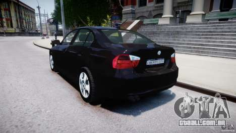 BMW 3-Series Unmarked [ELS] para GTA 4 traseira esquerda vista