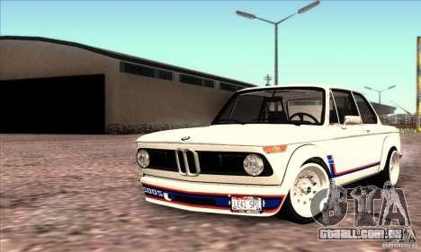 BMW 2002 Turbo para GTA San Andreas