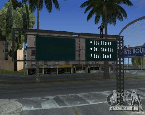 Estrada sinais v 1.0 para GTA San Andreas por diante tela
