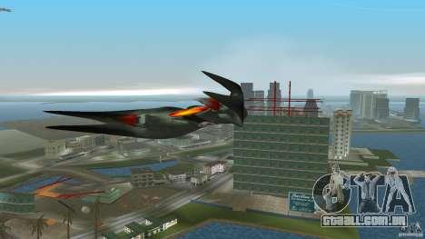 VX 574 Falcon para GTA Vice City vista traseira esquerda