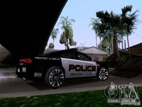 Dodge Charger SRT8 2011 V1.0 para GTA San Andreas vista traseira