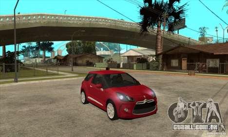 Citroen DS3 2010 para GTA San Andreas vista traseira