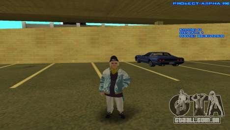 Vagos Girl para GTA San Andreas quinto tela