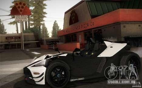 KTM-X-Bow para GTA San Andreas vista interior