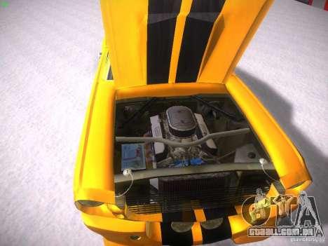 Shelby GT500 Eleanor para GTA San Andreas vista interior