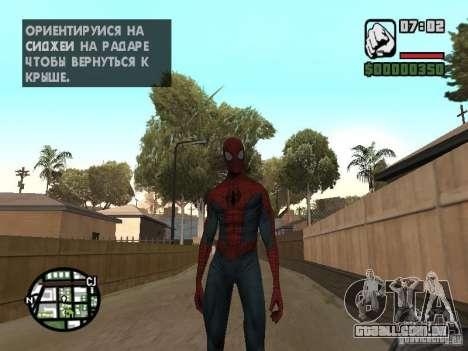 Homem-Aranha 2099 para GTA San Andreas segunda tela