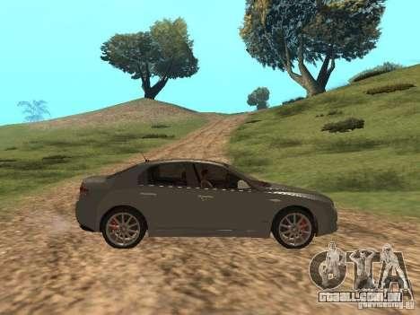 Alfa Romeo 159Ti para GTA San Andreas vista traseira