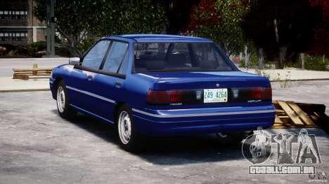Mercury Tracer 1993 v1.0 para GTA 4 traseira esquerda vista