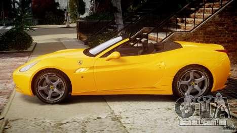 Ferrari California v1.0 para GTA 4 esquerda vista