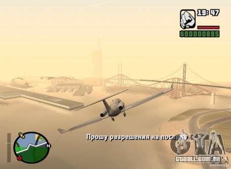 Piloto de emprego para GTA San Andreas segunda tela