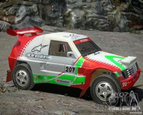Mitsubishi Pajero Proto Dakar EK86 vinil 2 para GTA 4 esquerda vista