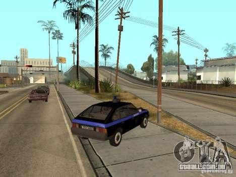 Patrulha AZLK 21418 para GTA San Andreas esquerda vista
