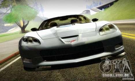 Chevrolet Corvette ZR-1 para GTA San Andreas traseira esquerda vista