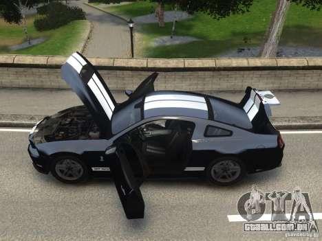 Ford Shelby GT500 2010 WIP para GTA 4 traseira esquerda vista