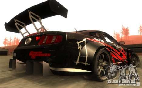 Ford Mustang Shelby GT500 V1.0 para GTA San Andreas vista direita