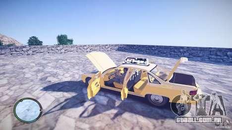 Chevrolet Caprice Taxi para GTA 4 vista interior