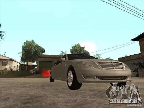 Mercedes-Benz Pullman (w221) SE para GTA San Andreas vista interior