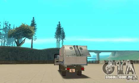 ZIL 433112 com tuning para GTA San Andreas vista interior