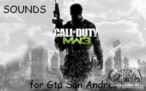 Arma som de CoD MW3 para GTA San Andreas