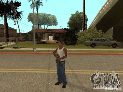 Light Machine Gun Dâgterëva para GTA San Andreas sétima tela