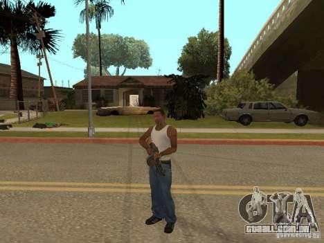 Light Machine Gun Dâgterëva para GTA San Andreas sétima tela