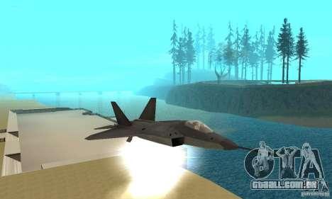 YF-22 Black para vista lateral GTA San Andreas