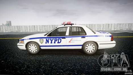 Ford Crown Victoria Police Department 2008 NYPD para GTA 4 vista de volta