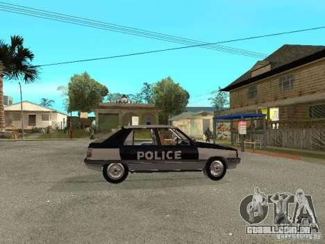 Renault 11 Police para GTA San Andreas vista direita