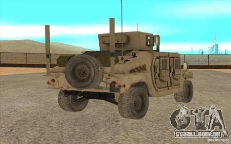 Hummer H1 Military HumVee para GTA San Andreas esquerda vista