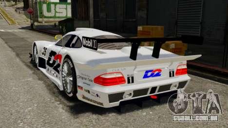 Mercedes-Benz CLK LM 1998 para GTA 4 traseira esquerda vista