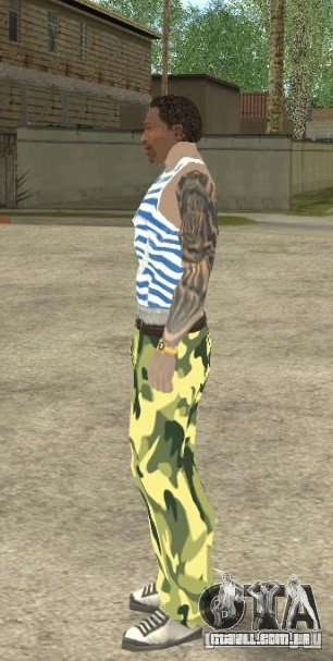 CJ VDV para GTA San Andreas quinto tela