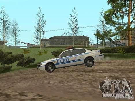 Polícia de GTA 4 para GTA San Andreas traseira esquerda vista