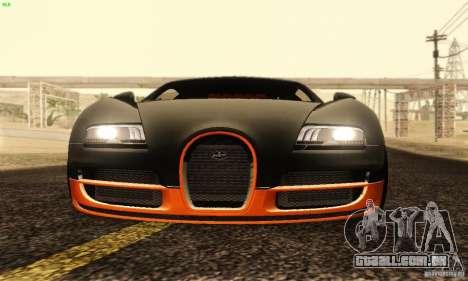 Bugatti Veyron SuperSport para GTA San Andreas vista superior