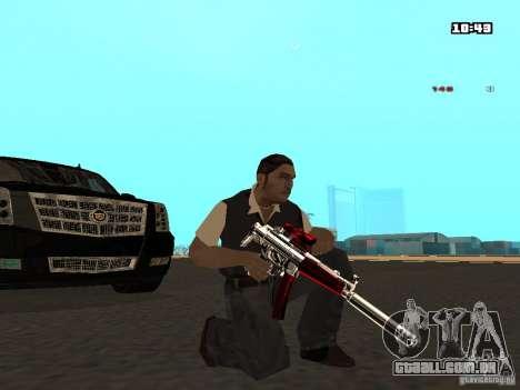 White Red Gun para GTA San Andreas por diante tela