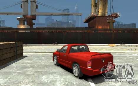 Dodge Ram SRT-10 v.1.0 para GTA 4 traseira esquerda vista