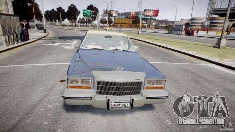 Cadillac Fleetwood Brougham 1985 para GTA 4 vista inferior