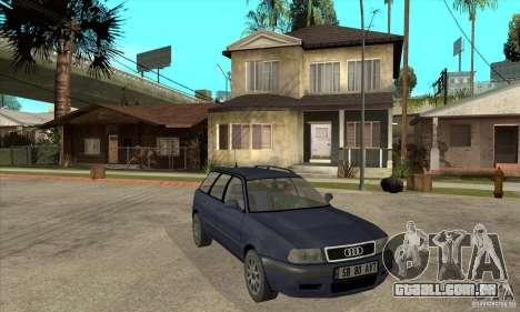 Audi 80 B4 Avant para GTA San Andreas vista traseira