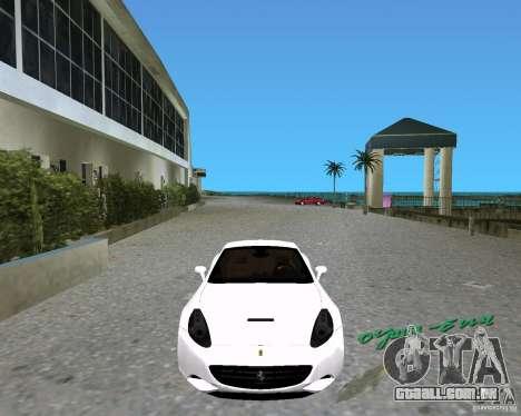 Ferrari California para GTA Vice City vista traseira esquerda