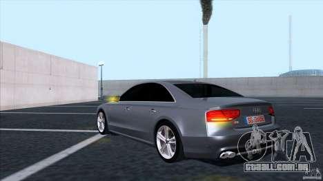 Audi S8 2012 para GTA San Andreas vista traseira