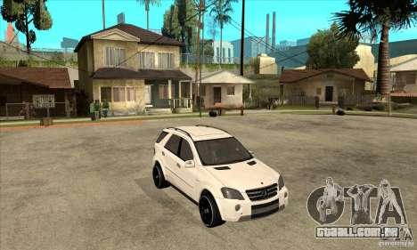 Mercedes-Benz ML 63 para GTA San Andreas vista traseira
