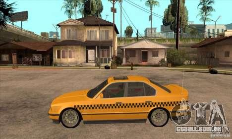 BMW E34 535i Taxi para GTA San Andreas esquerda vista