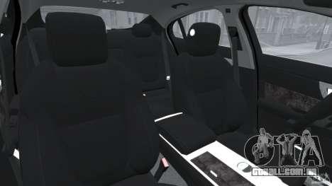 Jaguar XFR 2010 v2.0 para GTA 4 vista interior