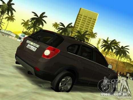 Chevrolet Captiva para GTA San Andreas vista interior