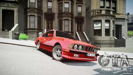 BMW M6 v1 1985 para GTA 4 vista de volta