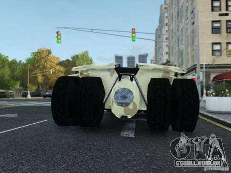 HQ Batman Tumbler para GTA 4 vista interior