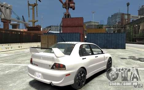 Mitsubishi Lancer Evolution IX 2010 para GTA 4 vista direita