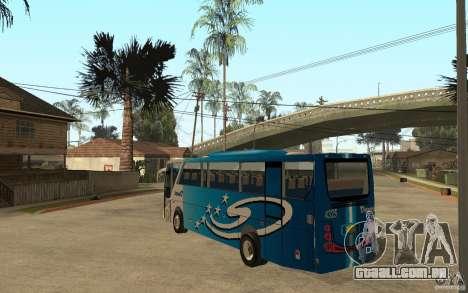 Hino New Travego V.Damri para GTA San Andreas traseira esquerda vista