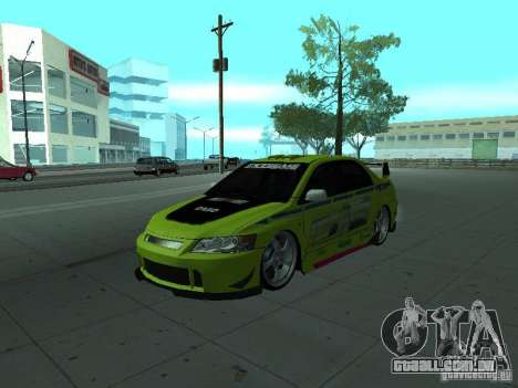 Mitsubishi Lancer Evolution 8 para as rodas de GTA San Andreas