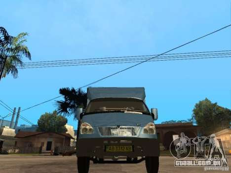 Ruta de gazela para GTA San Andreas vista direita